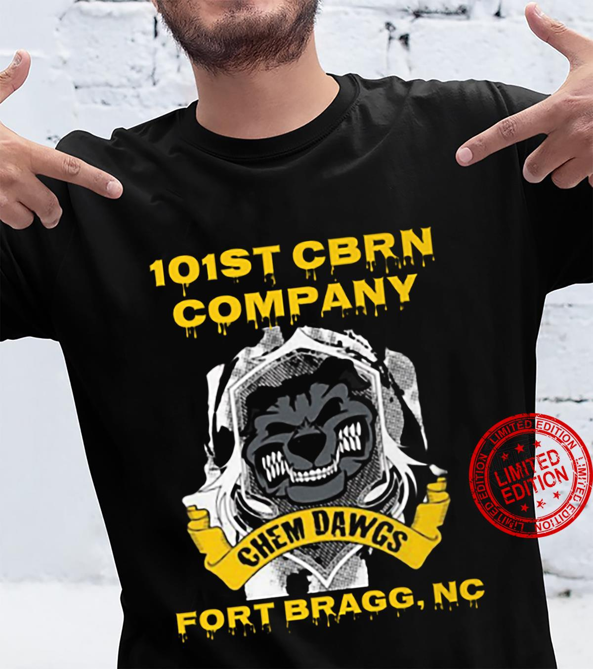101st Cbrn Company Chem Dawgs Fort Bragg Nc Shirt unisex