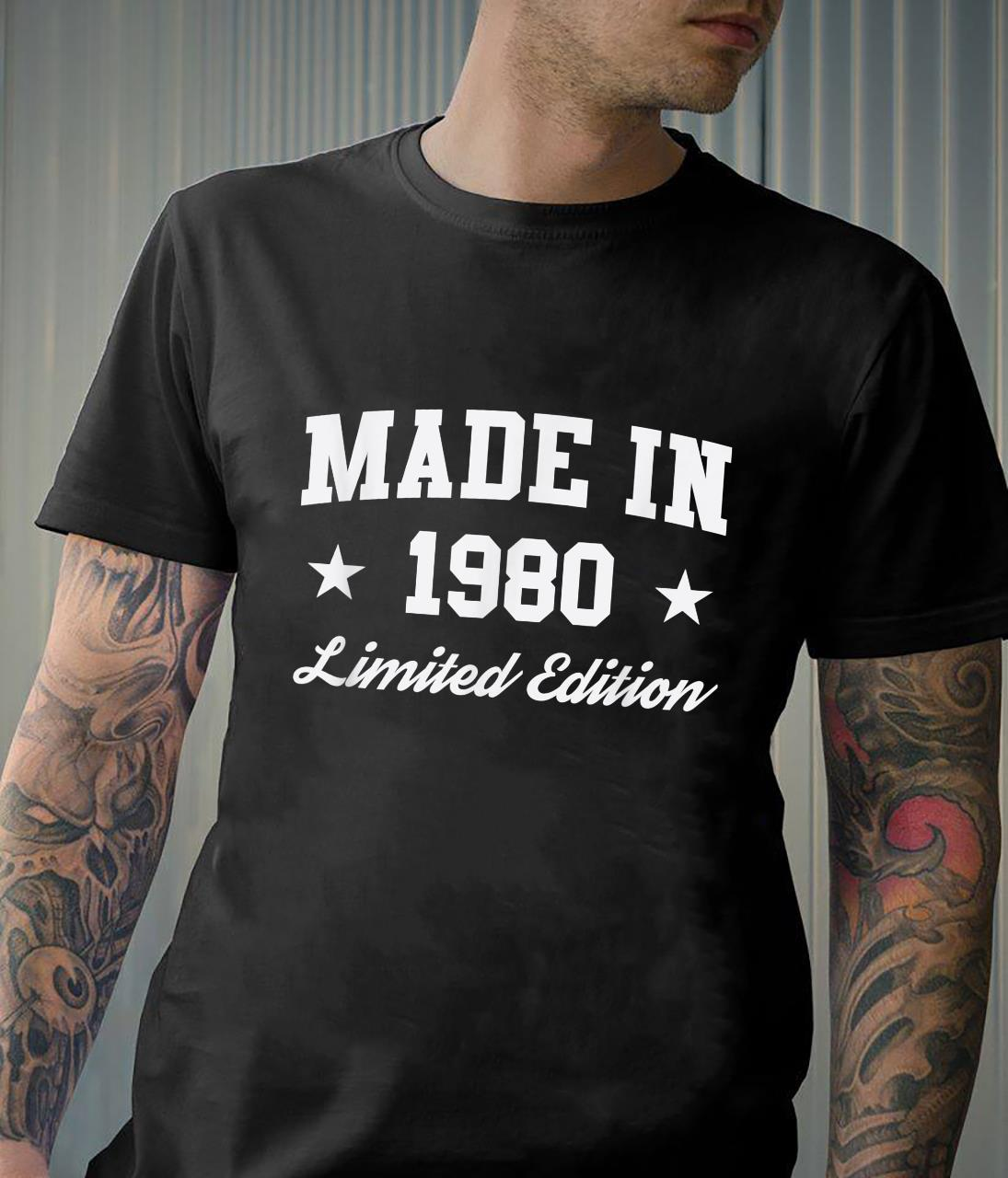 Made in 1980 Limited Edition Birthday Shirt