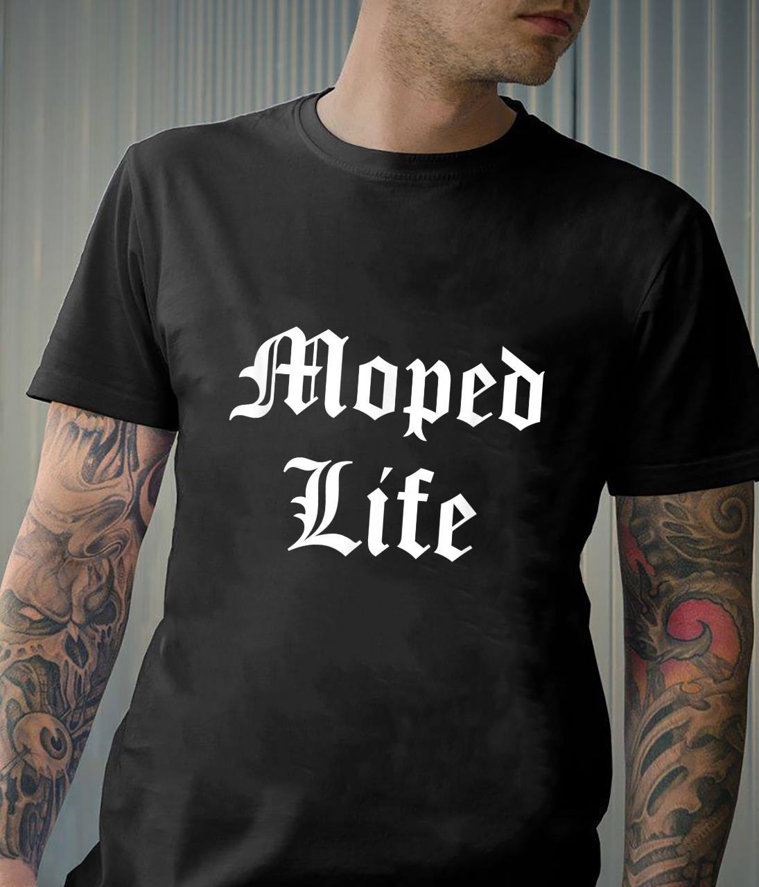 Moped Life Repair and Moped Enthusiast Shirt