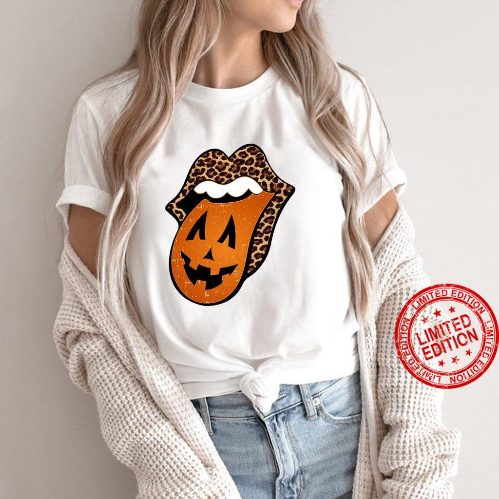 Rolling Stones Leopard Pumkin Shirt