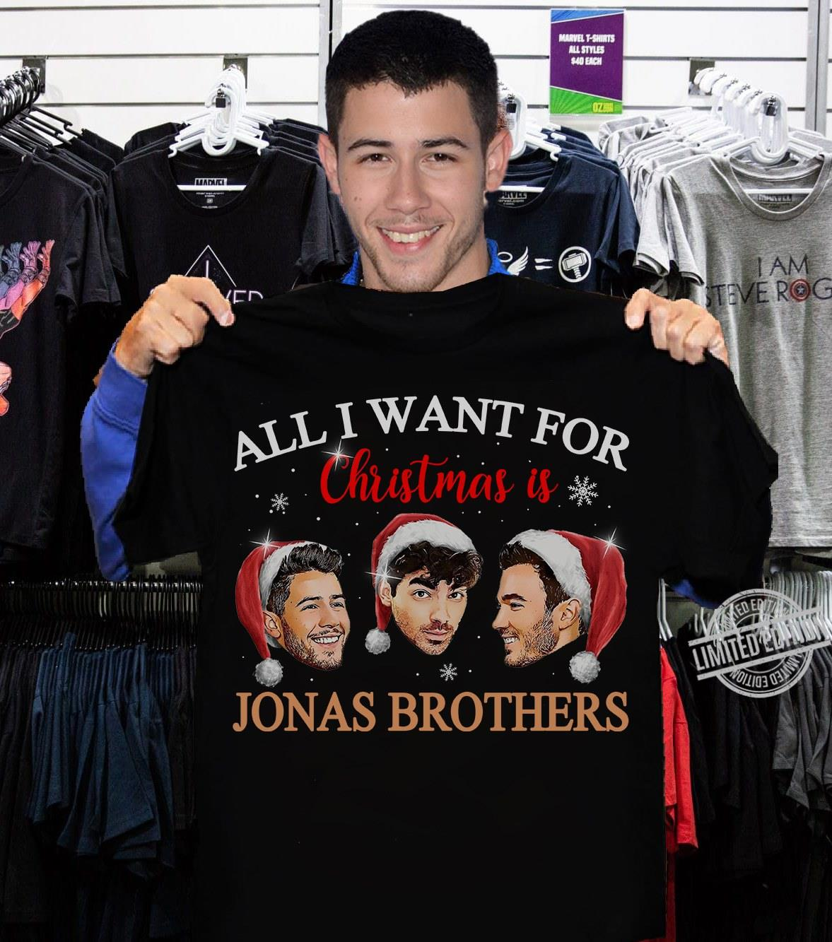 All I Want For Christmas Is Jonas Brothers Shirt