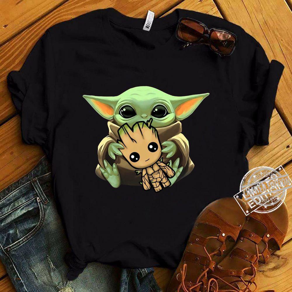 Baby Yoda Hug Baby Groot Shirt