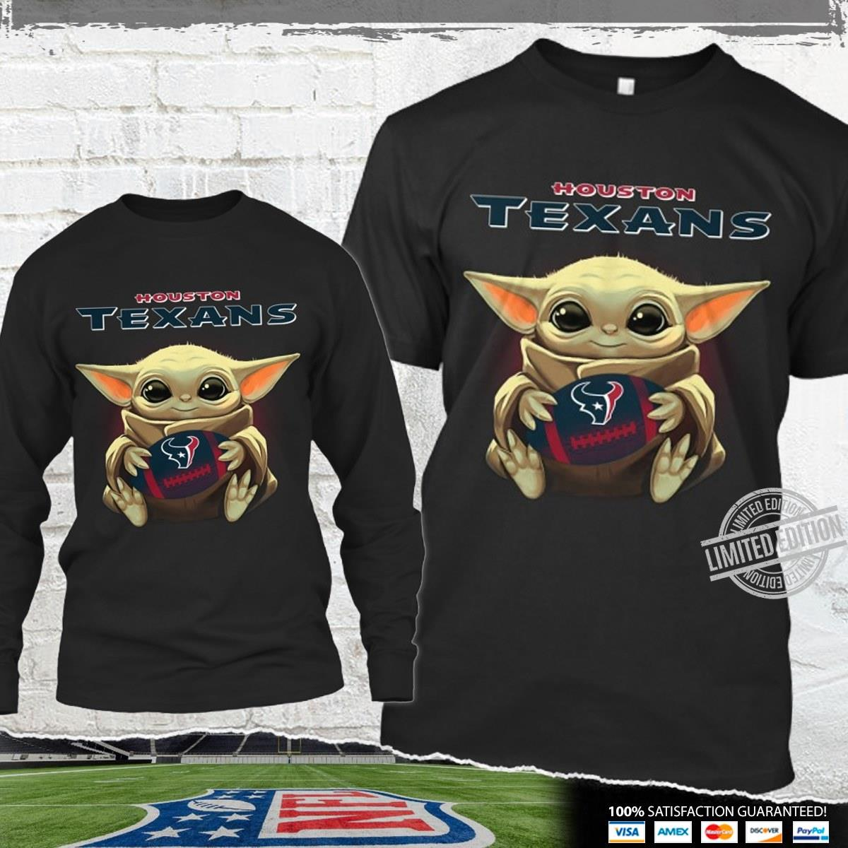 Baby Yoda Hug Houston Texans Shirt