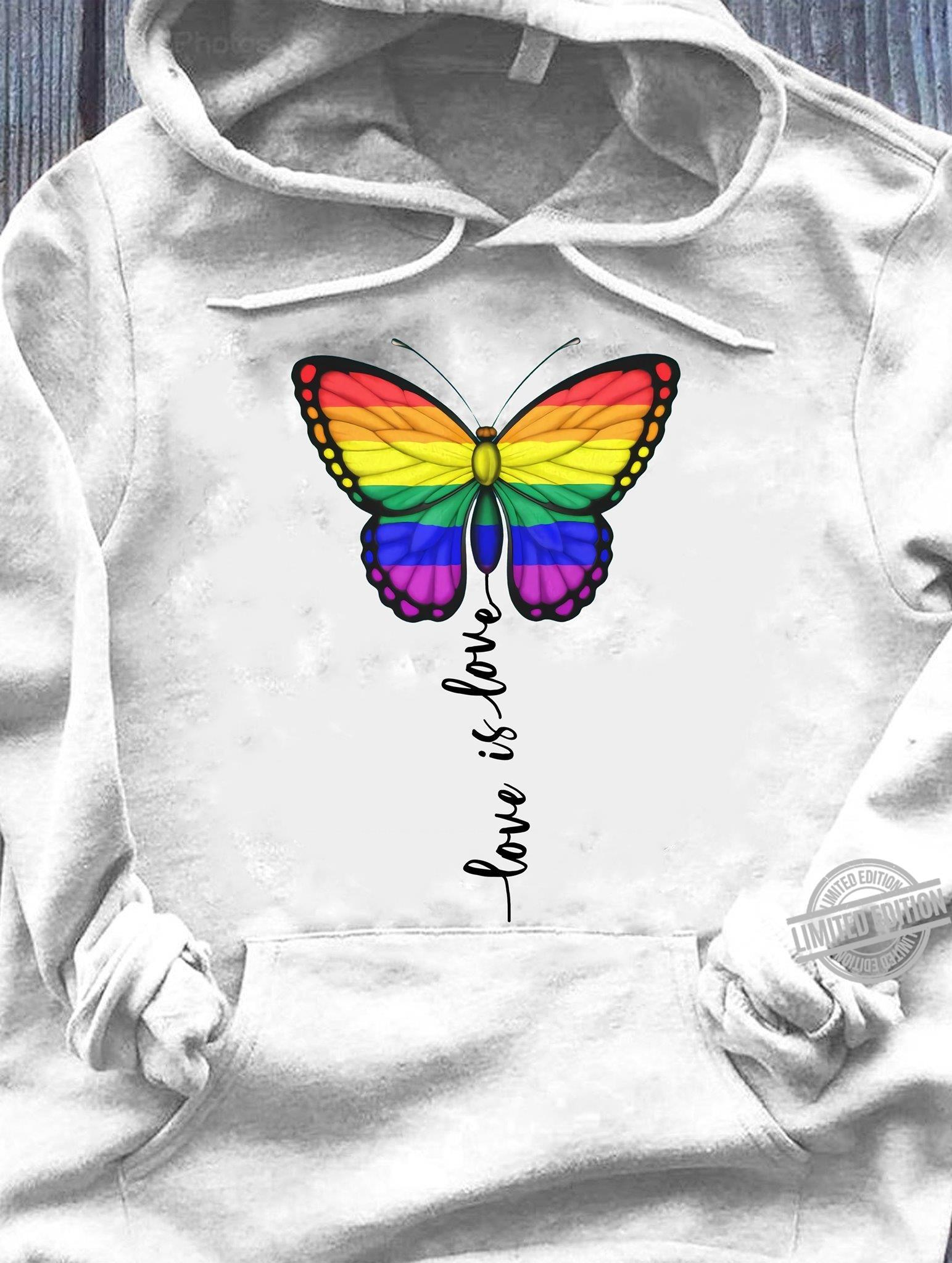Butterfly love is love pride shirt