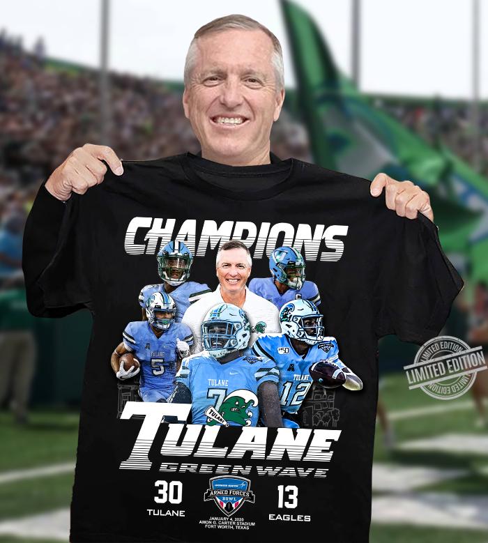 Champions Tulane And Eagles Green Wave Shirt