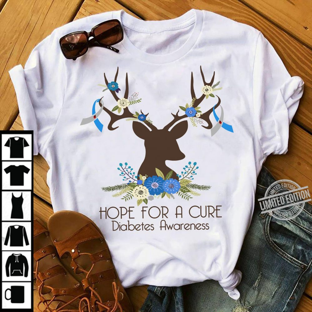 Hope For A Cure Dianetes Awareness Shirt