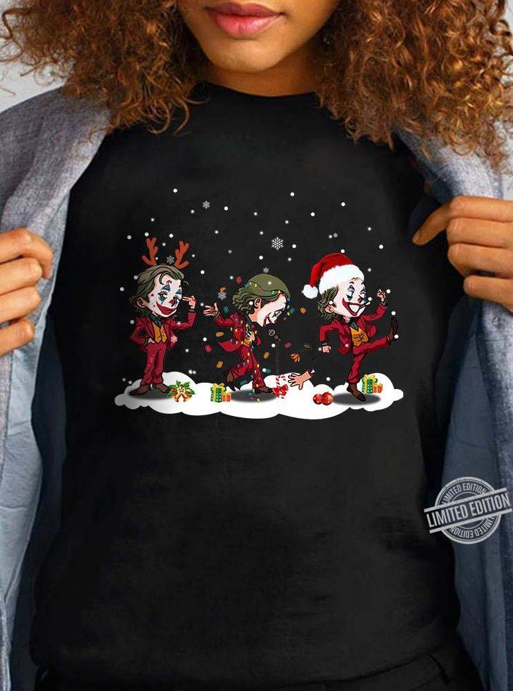 Joker character Merry Christmas Shirt