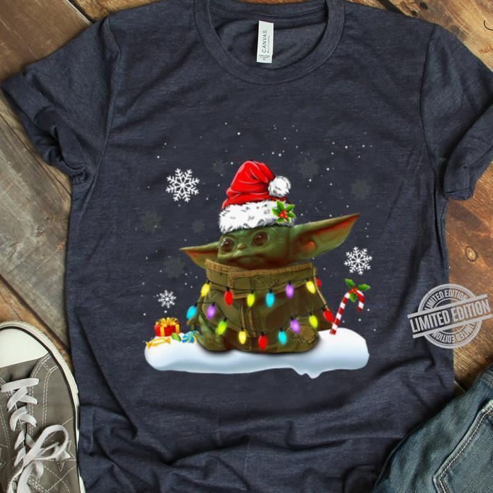 Nice Christmas Santa Baby Yoda Christmas Light shirt