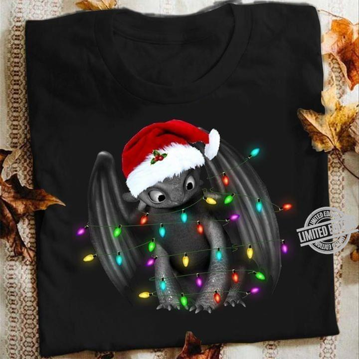 Night Fury Christmas light shirt