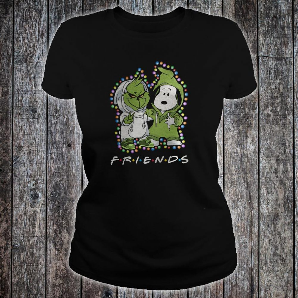 Snoopy and Grinch friends shirt ladies tee