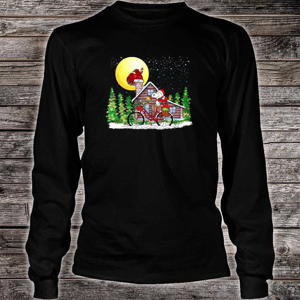 Snoopy and Woodstock christmas shirt Long sleeved