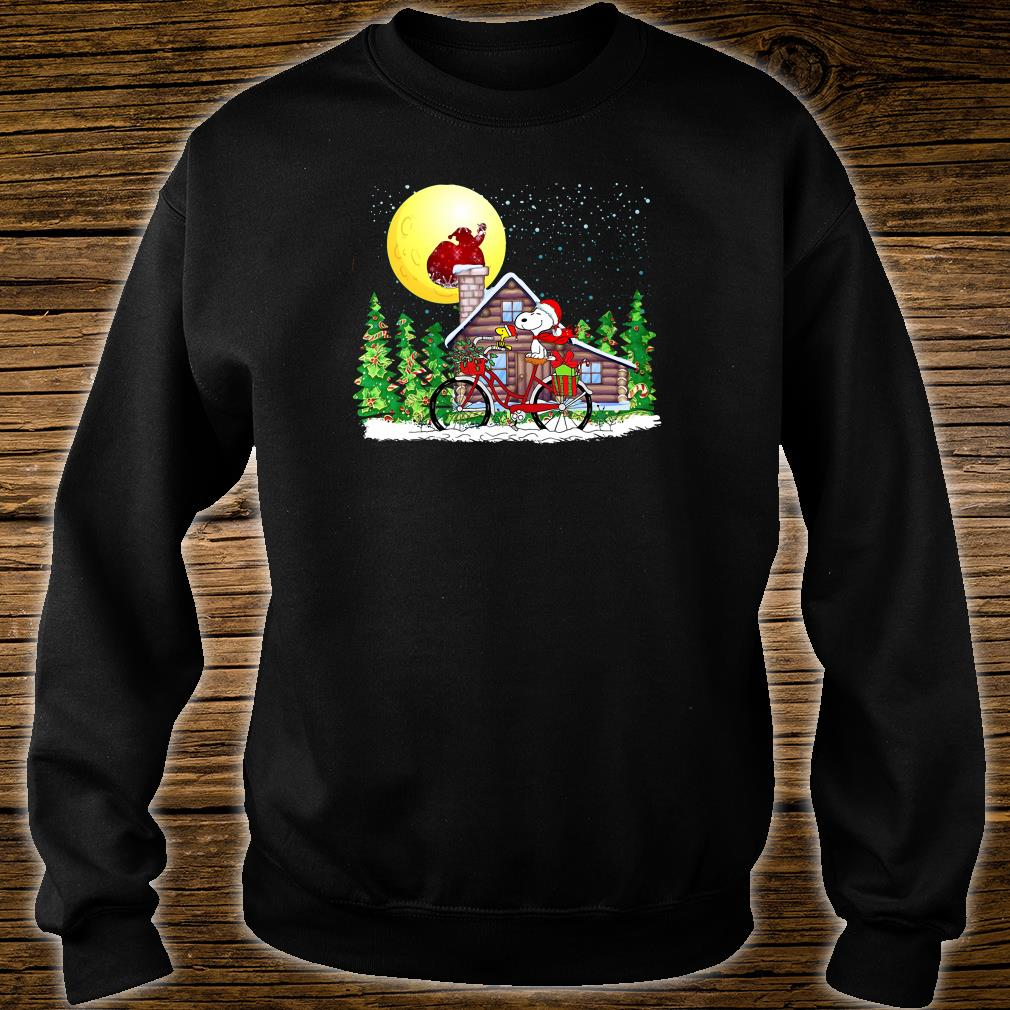 Snoopy and Woodstock christmas shirt sweater