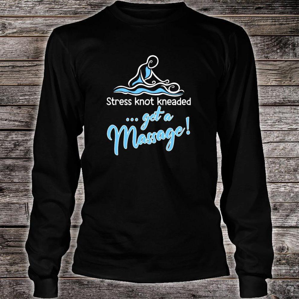 Stress knot kneaded get a massage shirt long sleeved